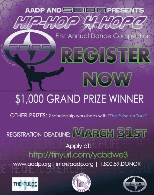 Hip-Hop for Hope - Registration Deadline